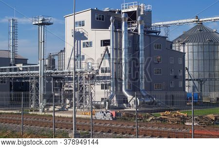 Granary, Elevator - An Industrial Complex For Storage, Sorting And Shipment Of Grain By Rail. Agro-p