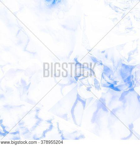 Ice Crystal Snowflake. Winter Indigo Decoration. New Year Indigo Paper. Cold Illustration. Cute New