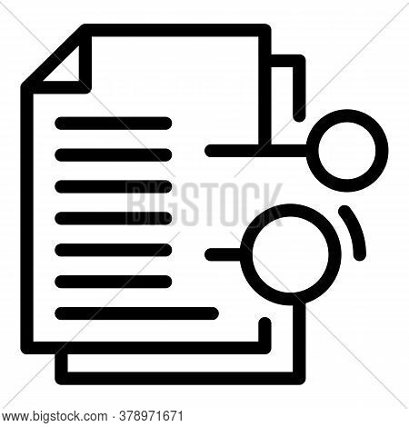 Documents Remote Access Icon. Outline Documents Remote Access Vector Icon For Web Design Isolated On