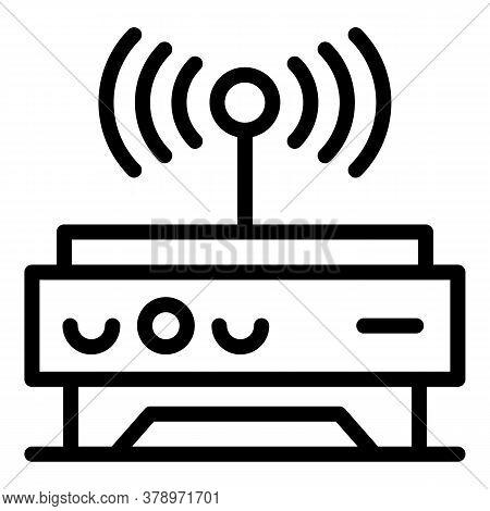 Wifi Remote Control Icon. Outline Wifi Remote Control Vector Icon For Web Design Isolated On White B