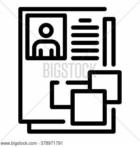 Personal Data Remote Access Icon. Outline Personal Data Remote Access Vector Icon For Web Design Iso
