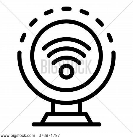 Wifi Remote Access Icon. Outline Wifi Remote Access Vector Icon For Web Design Isolated On White Bac