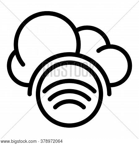 Digital Cloud Remote Access Icon. Outline Digital Cloud Remote Access Vector Icon For Web Design Iso