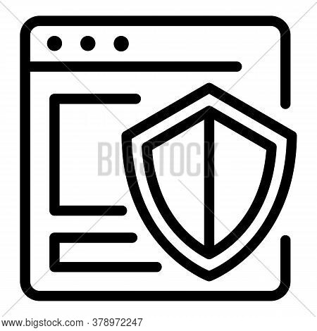 Secured Operating System Icon. Outline Secured Operating System Vector Icon For Web Design Isolated