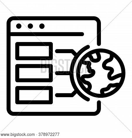 Web Page Operating System Icon. Outline Web Page Operating System Vector Icon For Web Design Isolate
