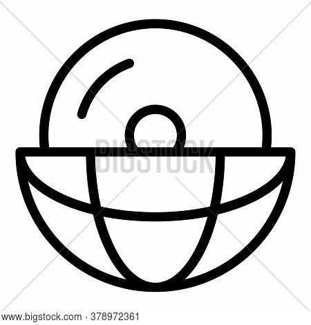 Global Disc Operating System Icon. Outline Global Disc Operating System Vector Icon For Web Design I