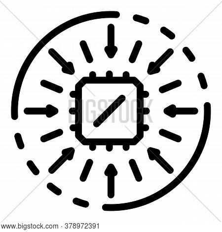 Operating System Processor Icon. Outline Operating System Processor Vector Icon For Web Design Isola