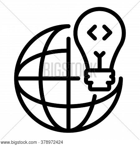 Operating System Global Idea Icon. Outline Operating System Global Idea Vector Icon For Web Design I