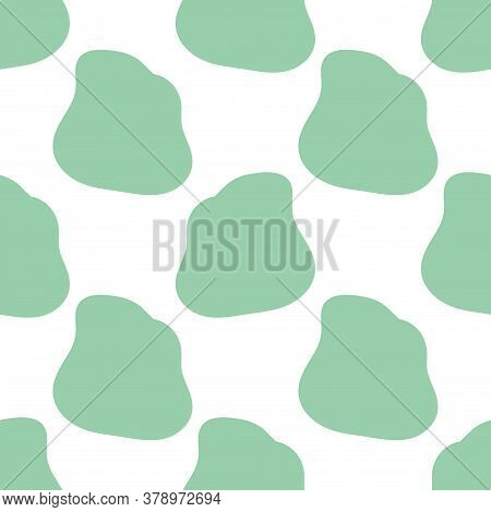 Abstract Round Shape Geo Seamless Pattern. Geometric Uneven Infinity Backdrop. Wrapping Paper. Vecto