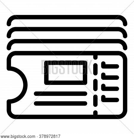 Bus Ticket Reader Icon. Outline Bus Ticket Reader Vector Icon For Web Design Isolated On White Backg