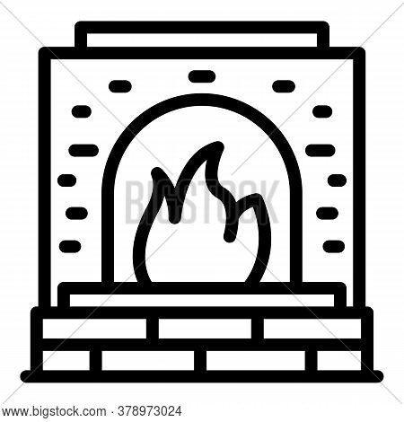 Metallurgy Oven Icon. Outline Metallurgy Oven Vector Icon For Web Design Isolated On White Backgroun