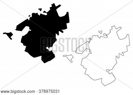 Campo Grande City (federative Republic Of Brazil, Mato Grosso Do Sul State) Map Vector Illustration,