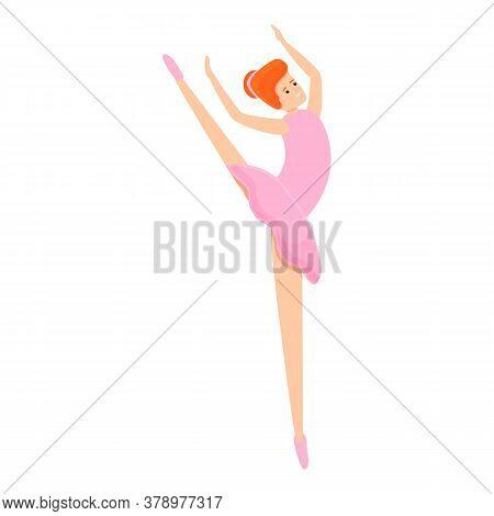 Theater Ballerina Icon. Cartoon Of Theater Ballerina Vector Icon For Web Design Isolated On White Ba