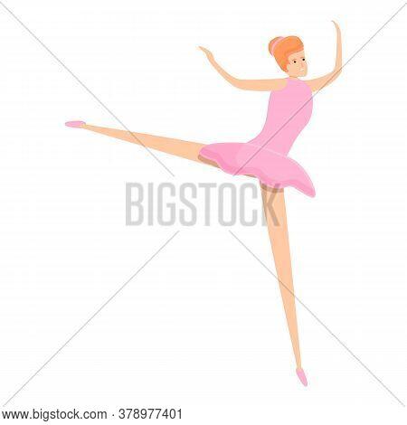 Art Studio Ballerina Icon. Cartoon Of Art Studio Ballerina Vector Icon For Web Design Isolated On Wh