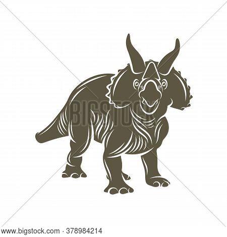 Triceratops Dinosaurs Logo Design Vector. Icon Symbol. Template Illustration