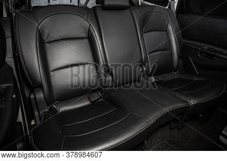Novosibirsk/ Russia - July 18 2020: Nissan Qashgai, Rear Passenger Seats In Modern Car, Frontal View