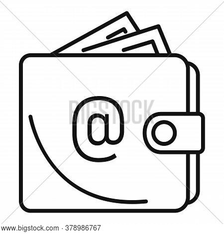 Leather Wallet Money Loan Icon. Outline Leather Wallet Money Loan Vector Icon For Web Design Isolate