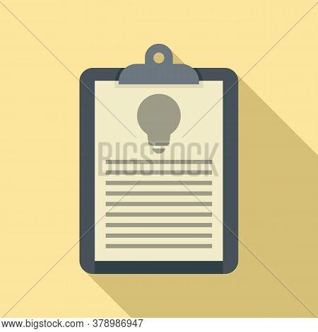 Innovation Clipboard Icon. Flat Illustration Of Innovation Clipboard Vector Icon For Web Design