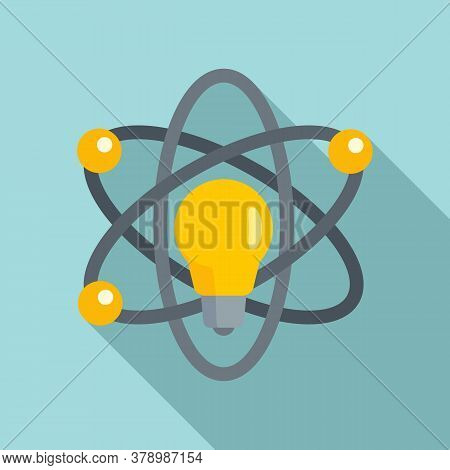 Atom Idea Innovation Icon. Flat Illustration Of Atom Idea Innovation Vector Icon For Web Design