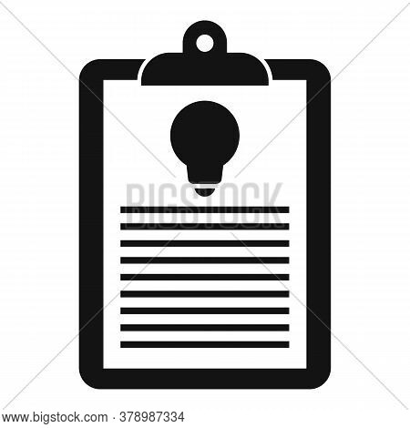 Innovation Clipboard Icon. Simple Illustration Of Innovation Clipboard Vector Icon For Web Design Is