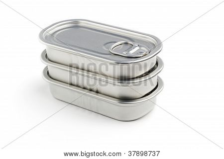 sardine cans stacked