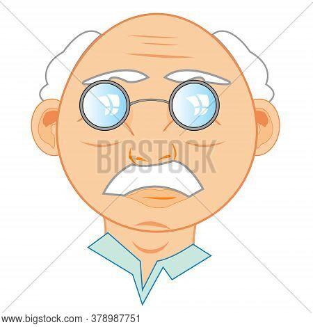 Vector Illustration Of The Person Elderly Men