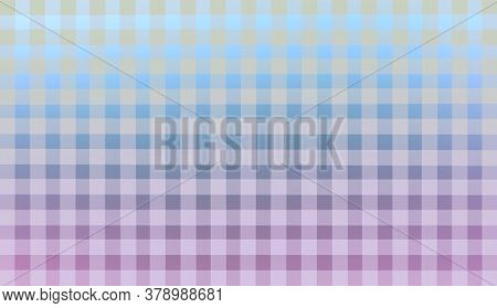 Blue Lilac White Gray Pink Checkered Background. Space For Graphic Design. Checkered Texture. Classi