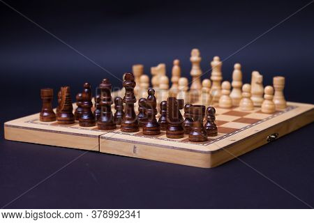 A Game Of Chess, The Beginning Of A Chess Game Two Sides Opposite Each Other. Business Rivalry And P
