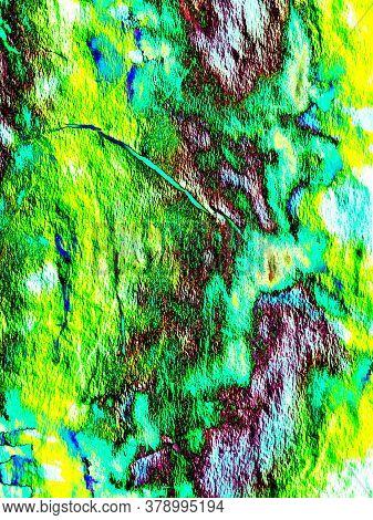 Green Light Flare. Green Dark Design. Black Blue Futuristic Decor. Black Green Background. Green Bla