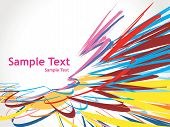 abstract arrow background with white wave line. poster