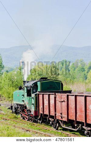 steam freight train, Durdevik, Bosnia and Hercegovina poster