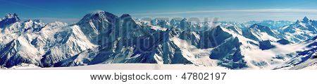 Panorama das montanhas