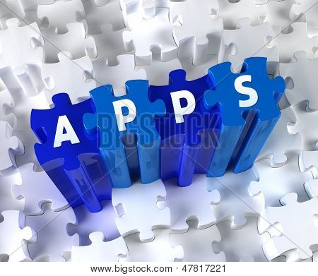 Creative 3D pieces of puzzle and word APPS