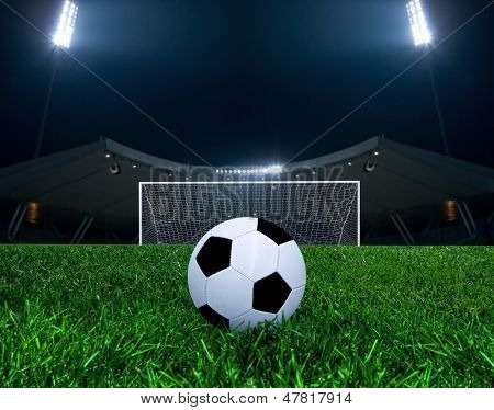 Soccer ball on the penalty point