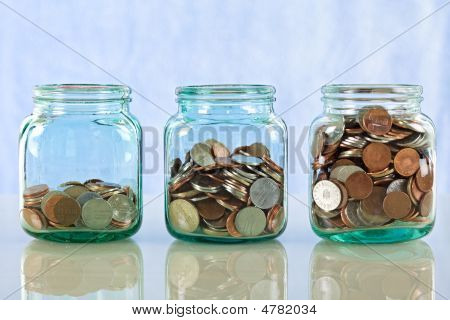 Saving Money In Old Jars