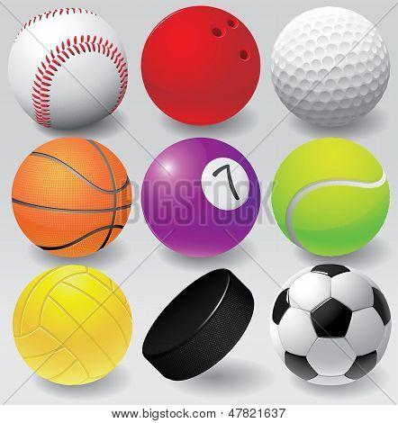 Sport balls vector illustration eps 8