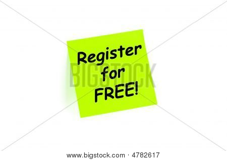 Register For Free Sign Up Concept