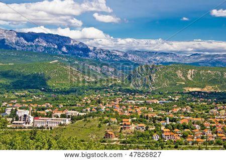 Town Of Knin And Dinara Mountain