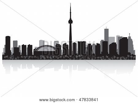 Toronto Canada City Skyline Vector Silhouette