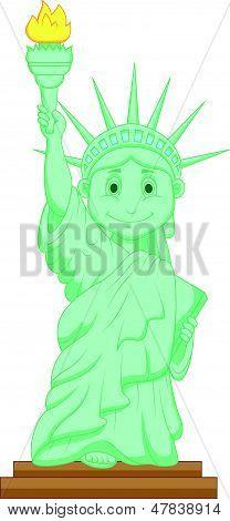 Liberty statue cartoon
