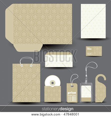 Stationery design set in editable vector format
