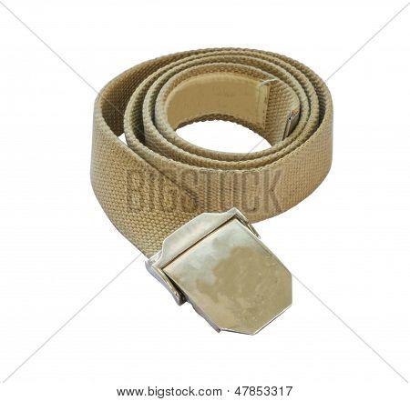 The Belt on white isolate background.