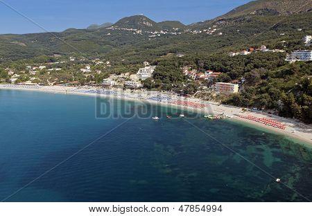 Valtos beach near Parga in Greece
