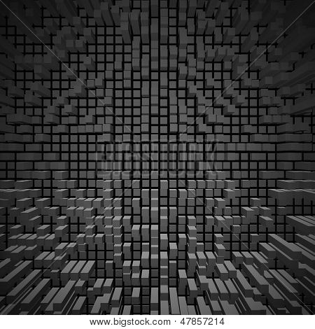 Texture Of Blocks On A Dark Background