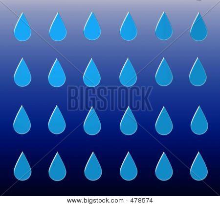 blue drops. illustration poster