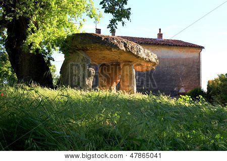 Megalith dolmen - Celtic Stone in Draguignan Provence France poster