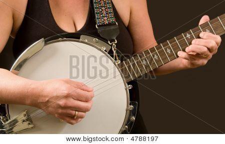 Woman Playing Banjo
