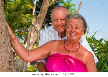 Happy Mature Hugging