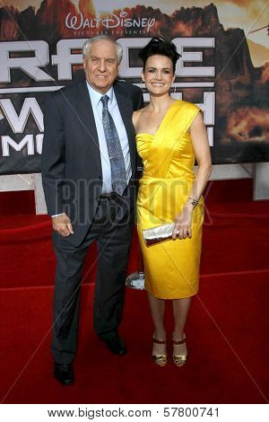 Garry Marshall and Carla Gugino  at the Los Angeles Premiere of 'Race To Witch Mountain'. El Capitan Theatre, Hollywood, CA. 03-11-09