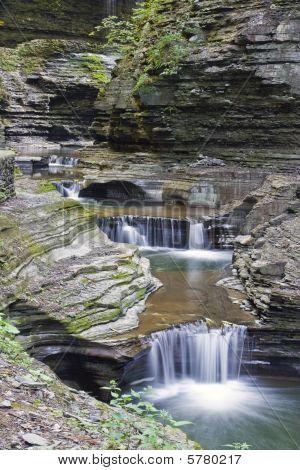 Watkins Glen New York waterfalls.